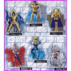 SAINT SEIYA GASHAPON 6 SET CROSS BOX Vol.1 FIGURE